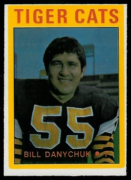 Bill Danychuk 1972 O-Pee-Chee CFL football card
