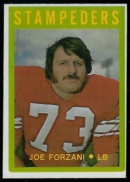 Joe Forzani 1972 O-Pee-Chee CFL football card
