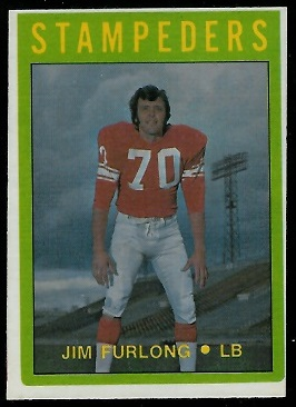 Jim Furlong 1972 O-Pee-Chee CFL football card