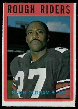 Hugh Oldham 1972 O-Pee-Chee CFL football card
