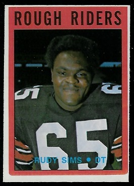 Rudy Sims 1972 O-Pee-Chee CFL football card