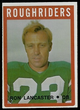 Ron Lancaster 1972 O-Pee-Chee CFL football card