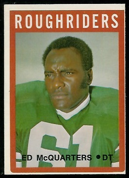 Ed McQuarters 1972 O-Pee-Chee CFL football card