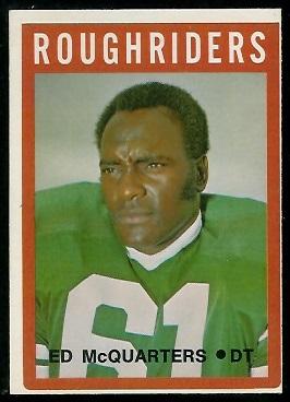 Ed McQuarters 1972 O-Pee-Chee CFL football card