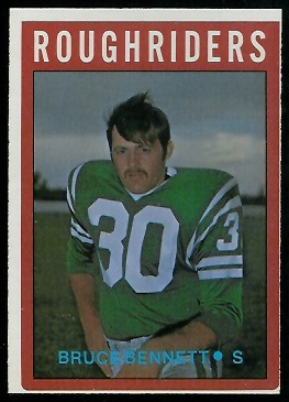 Bruce Bennett 1972 O-Pee-Chee CFL football card