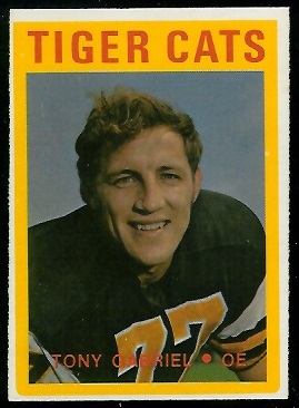 Tony Gabriel 1972 O-Pee-Chee CFL football card