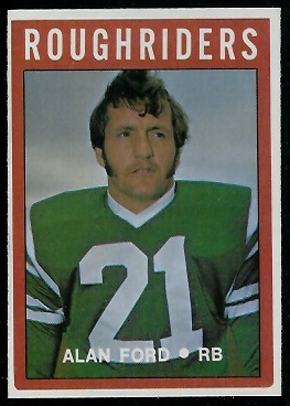 Alan Ford 1972 O-Pee-Chee CFL football card