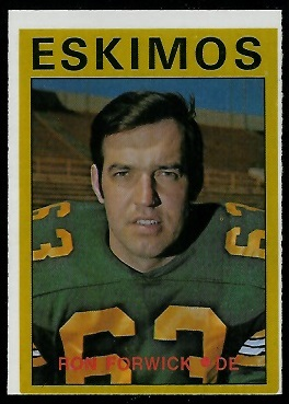 Ron Forwick 1972 O-Pee-Chee CFL football card
