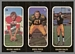 1972 O-Pee-Chee Stickers Wayne Harris, Greg Pipes, Chuck Ealey