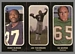 1972 O-Pee-Chee Stickers Hugh Oldham, Joe Theismann, Ed George