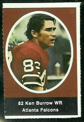 Ken Burrow 1972 Sunoco Stamps football card