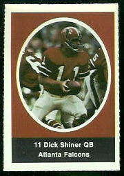 Dick Shiner 1972 Sunoco Stamps football card