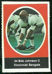 Bob Johnson 1972 Sunoco Stamps football card