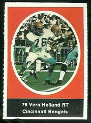 Vern Holland 1972 Sunoco Stamps football card