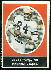 Bob Trumpy 1972 Sunoco Stamps football card