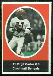 Virgil Carter 1972 Sunoco Stamps football card