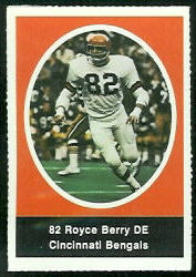 Royce Berry 1972 Sunoco Stamps football card