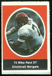 Mike Reid 1972 Sunoco Stamps football card
