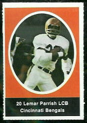 Lemar Parrish 1972 Sunoco Stamps football card