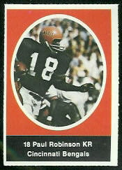 Paul Robinson 1972 Sunoco Stamps football card