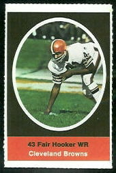 Fair Hooker 1972 Sunoco Stamps football card