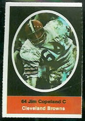 Jim Copeland 1972 Sunoco Stamps football card