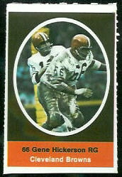 Gene Hickerson 1972 Sunoco Stamps football card