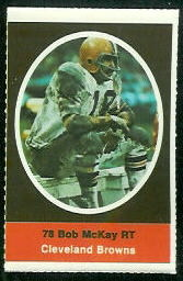 Bob McKay 1972 Sunoco Stamps football card