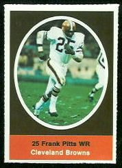 Frank Pitts 1972 Sunoco Stamps football card