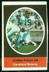 Mike Phipps 1972 Sunoco Stamps football card