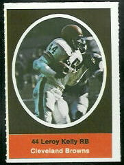 Leroy Kelly 1972 Sunoco Stamps football card