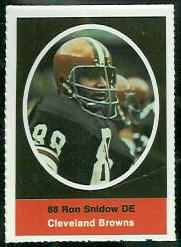 Ron Snidow 1972 Sunoco Stamps football card