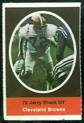 Jerry Sherk 1972 Sunoco Stamps football card
