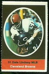 Dale Lindsey 1972 Sunoco Stamps football card