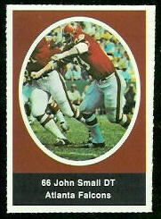 John Small 1972 Sunoco Stamps football card
