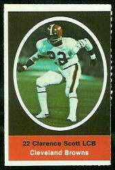 Clarence Scott 1972 Sunoco Stamps football card
