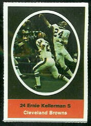Ernie Kellermann 1972 Sunoco Stamps football card