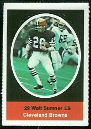 Walt Sumner 1972 Sunoco Stamps football card