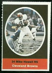 Mike Howell 1972 Sunoco Stamps football card