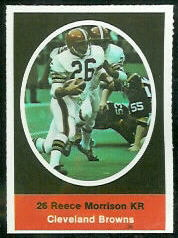 Reece Morrison 1972 Sunoco Stamps football card