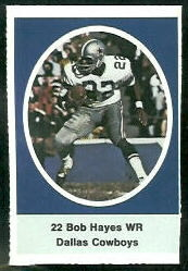 Bob Hayes 1972 Sunoco Stamps football card