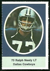 Ralph Neely 1972 Sunoco Stamps football card