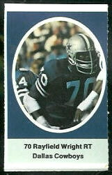 Rayfield Wright 1972 Sunoco Stamps football card