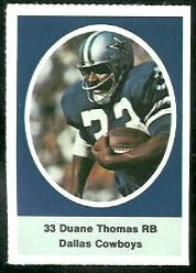 Duane Thomas 1972 Sunoco Stamps football card