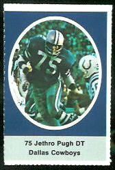 Jethro Pugh 1972 Sunoco Stamps football card