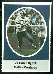 Bob Lilly 1972 Sunoco Stamps football card