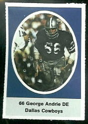 George Andrie 1972 Sunoco Stamps football card