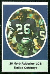 Herb Adderley 1972 Sunoco Stamps football card