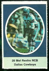 Mel Renfro 1972 Sunoco Stamps football card