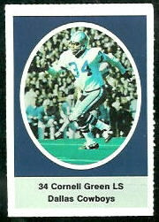 Cornell Green 1972 Sunoco Stamps football card